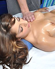 Hot and sexy 18 year old brunette gets fucked hard by her massage therapist